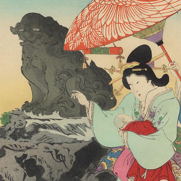 Visit to a Shrine by Kokunimasa (1874 - 1944)