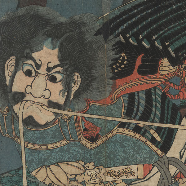 Taiheiki: The Battle of Amagasaki, 1861 by Sadahide (1807 - 1873)