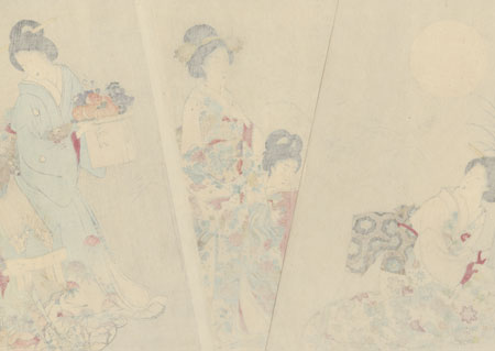 Moon Viewing Party by Chikanobu (1838 - 1912)