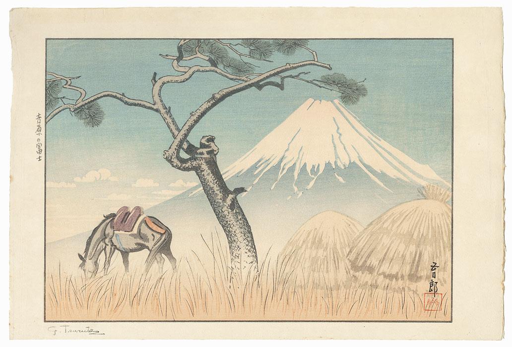 Fuji from Yoshiwara, 1936 by Goro Tsuruta (1890 - 1969)