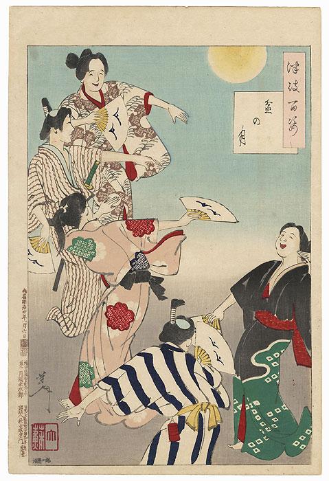 Bon Festival Moon by Yoshitoshi (1839 - 1892)