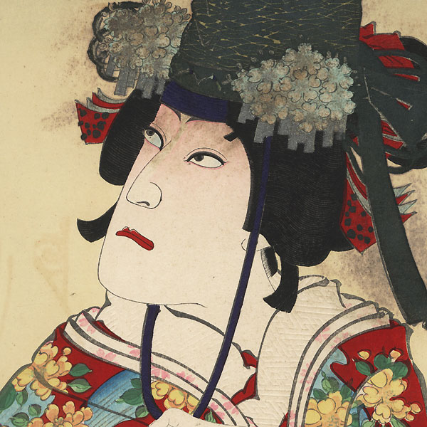 Ichikawa Danjuro IX in Dojoji by Kunichika (1835 - 1900)
