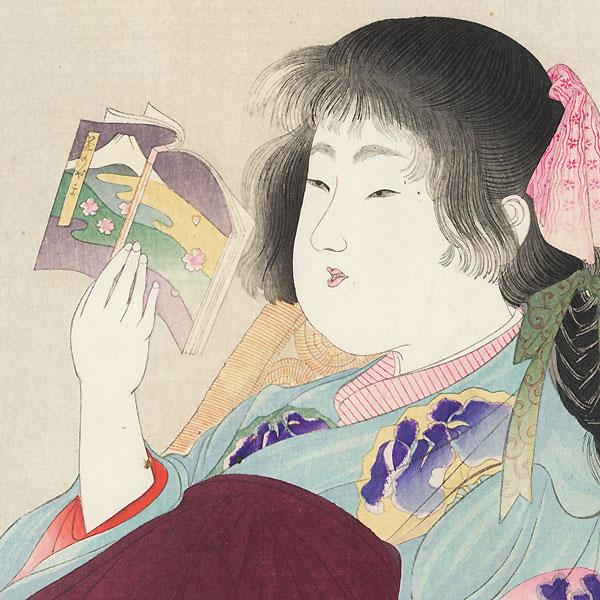 Sitting on a Chair, 1906 by Yamamoto Shoun (1870 - 1965)