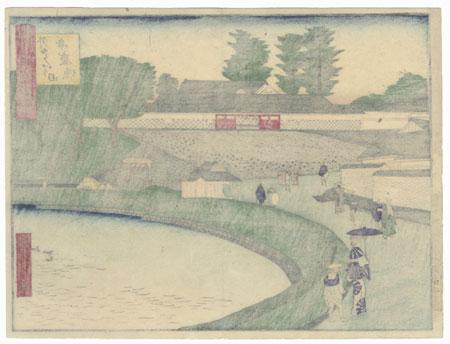 Benkei Moat (Past) by Hiroshige III (1843 - 1894)