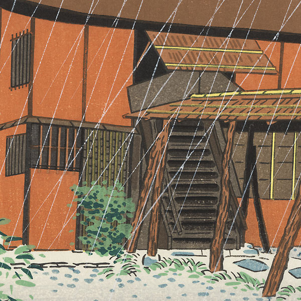 Rainy Day by Tokuriki (1902 - 1999)