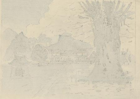 Shrine in Autumn by Kazue Yamagishi (1833 - 1966)