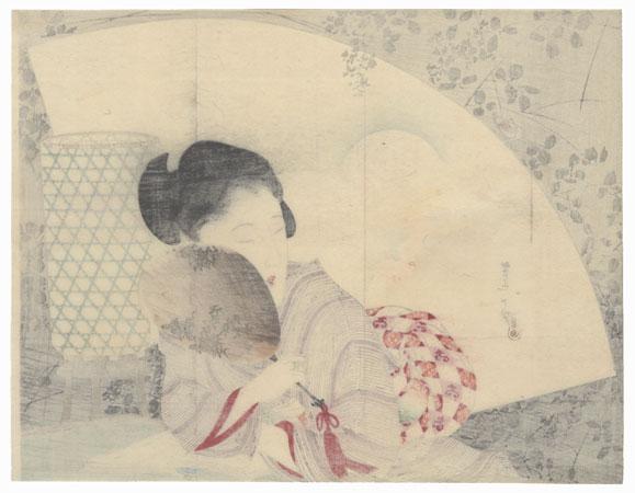 Black Shadow Kuchi-e Print, 1895 by Shoso Mishima (1856 - 1928)