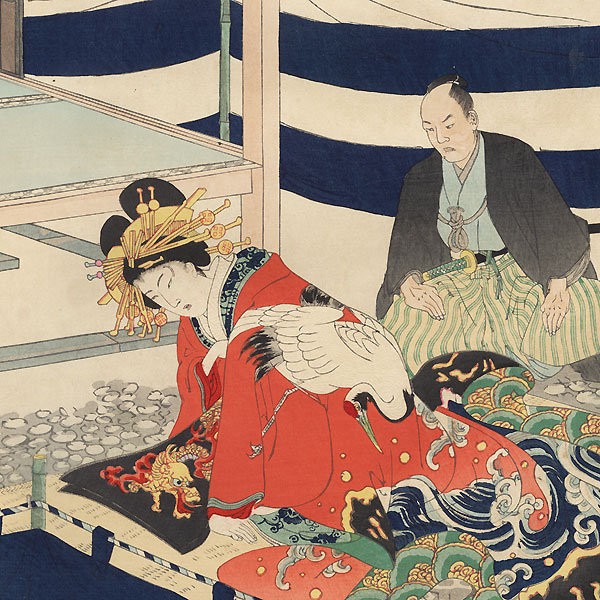 Depiction of an Official Hearing at Fukiage by Chikanobu (1838 - 1912)