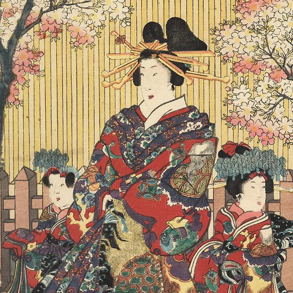 Flowers, 1854 by Toyokuni III/Kunisada (1786 - 1864)