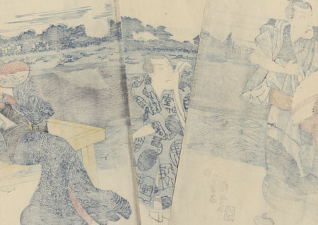 Evening Cool at Ryogoku, 1849 by Kuniyoshi (1797 - 1861)