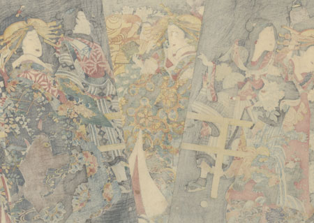 The Niwaka Festival, 1860 by Kunichika (1835 - 1900)
