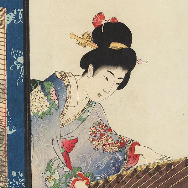 Koto by Chikanobu (1838 - 1912)