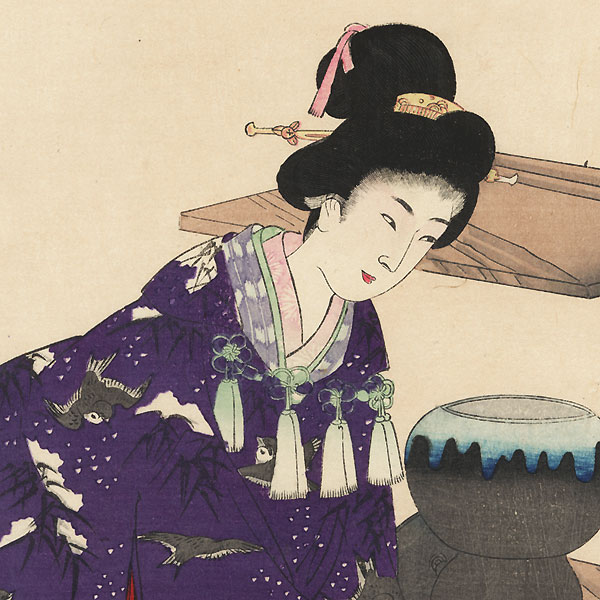 Tea Ceremony by Chikanobu (1838 - 1912)
