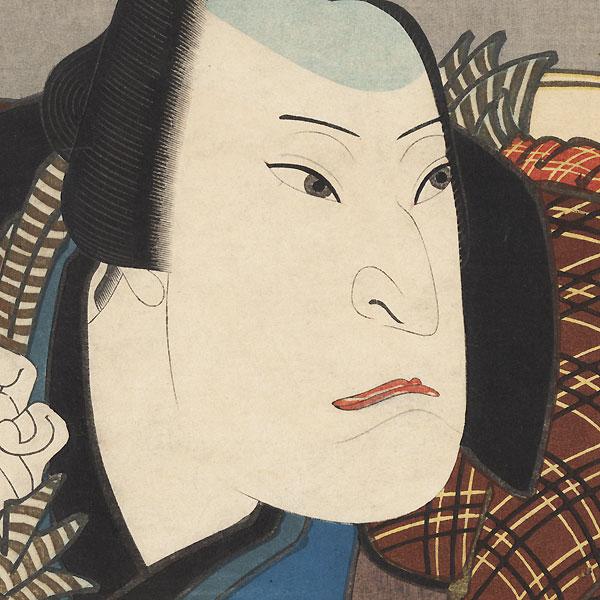 Nakamura Utaemon IV as Kaiya Zenkichi, 1852 by Hirosada (active circa 1847 - 1863)
