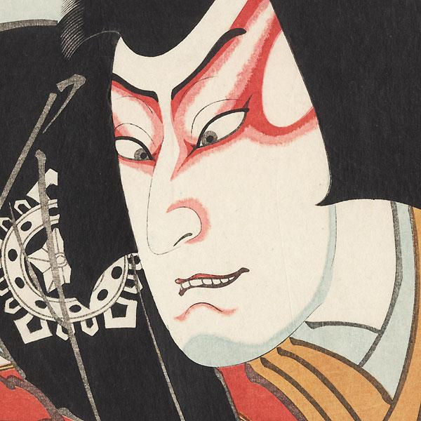 Mimasu Daigoro IV as Musashibo Benkei, 1848 by Hirosada (active circa 1847 - 1863)