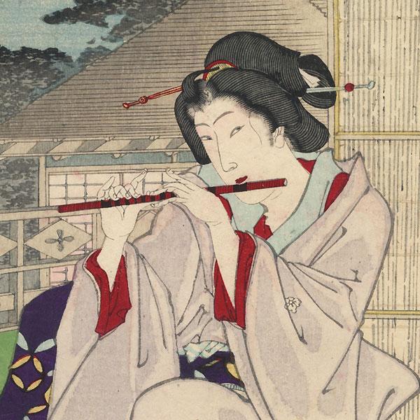 Yokobue, Chapter 36 by Kunichika (1835 - 1900)