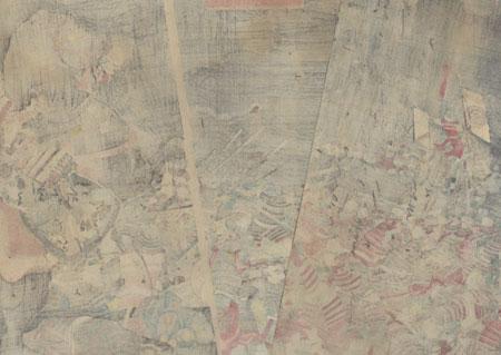 Battle of Kawanakajima, 1855 by Kuniyoshi (1797 - 1861)