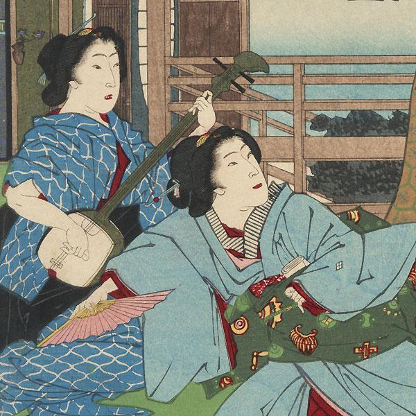 Kocho, Chapter 24 by Kunichika (1835 - 1900)