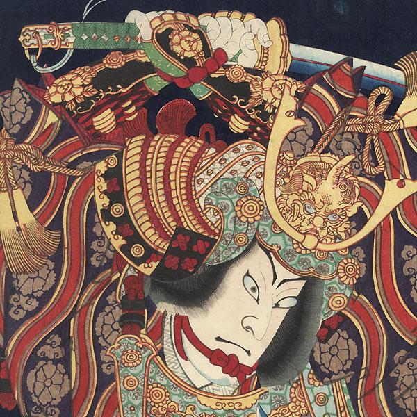 Samurai Battling, 1870 by Kunichika (1835 - 1900)