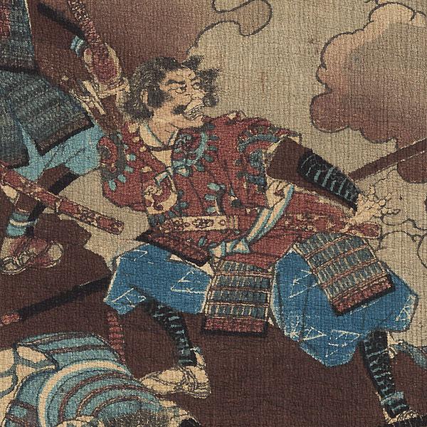 Battlefield by Yoshitoshi (1839 - 1892)