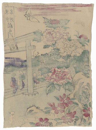 Blossoms and Butterflies by Meiji era artist (unsigned)