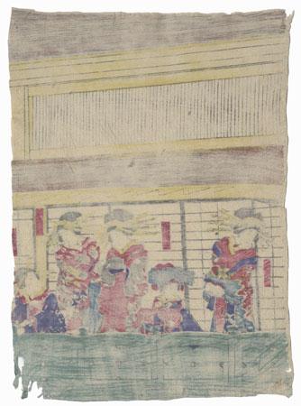 Courtesans in the Yoshiwara by Yoshitora (active circa 1840 - 1880)