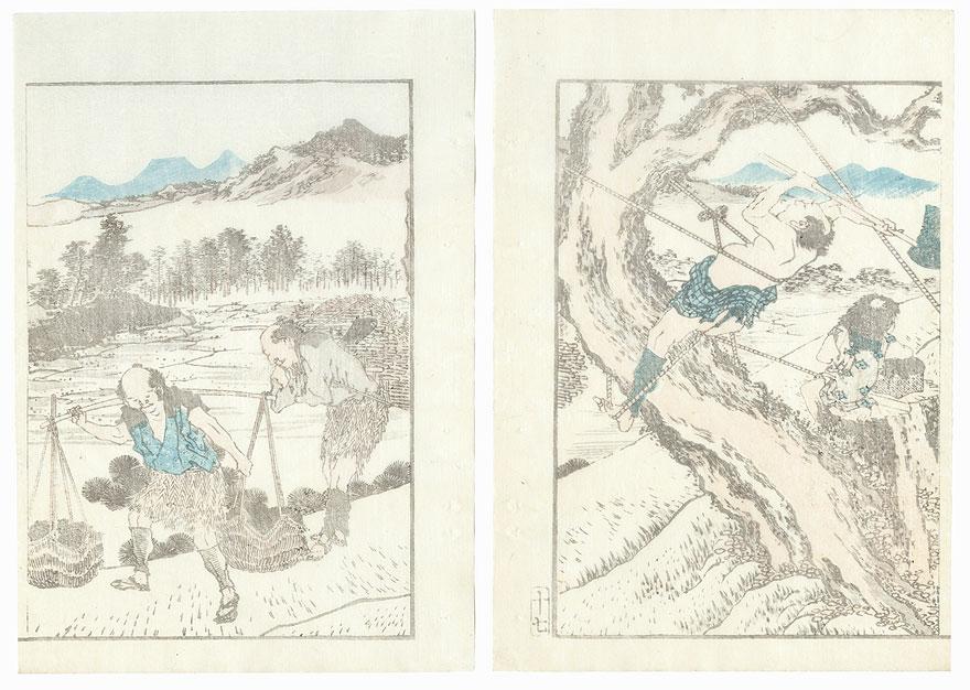 Woodcutters by Hokusai (1760 - 1849)