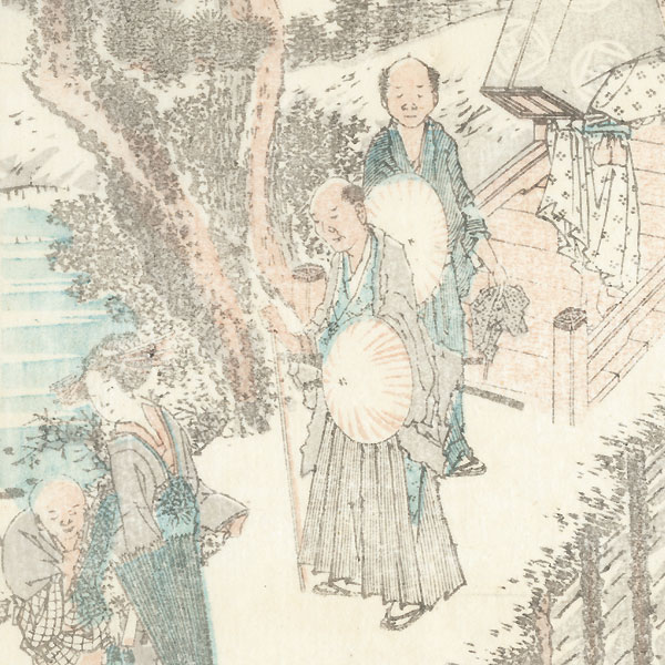 Fishermen by Hokusai (1760 - 1849)