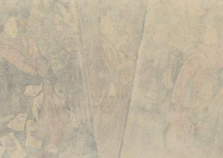 Spring Stroll, 1854 by Kuniyoshi (1797 - 1861)