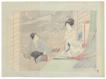 Summer Night Kuchi-e by Meiji era artist (not read)