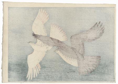 Flying Hawks by Bakufu Ohno (1888 - 1976)