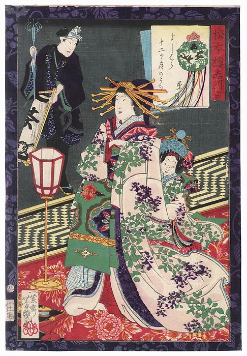 August: Shizuka of the Matsumotoro by Yoshiiku (1833 - 1904)