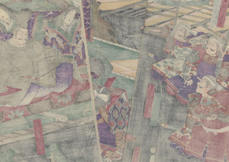 Kato Kiyomasa in an Audience with a Daimyo a Momoyama, 1869 by Yoshitora (active circa 1840 - 1880)