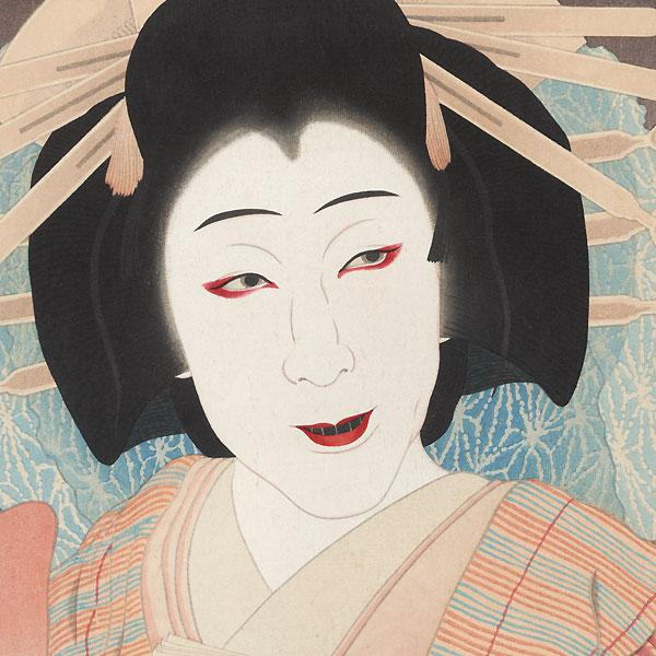 Nakamura Utaemon as Yatsuhashi, 1954 by Ota Masamitsu (1892 - 1975)