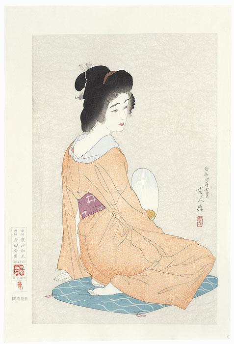 Long Undergarment, Rare Color Variant, 1929 by Torii Kotondo (1900 - 1976)