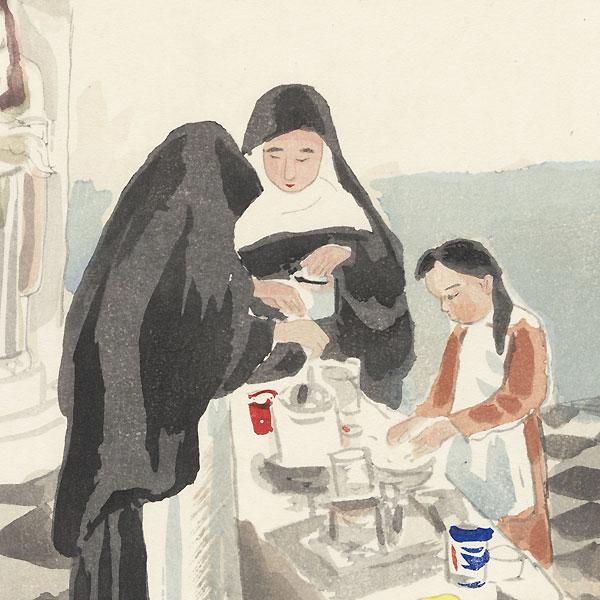 Nuns by Wada Sanzo (1883 - 1968)