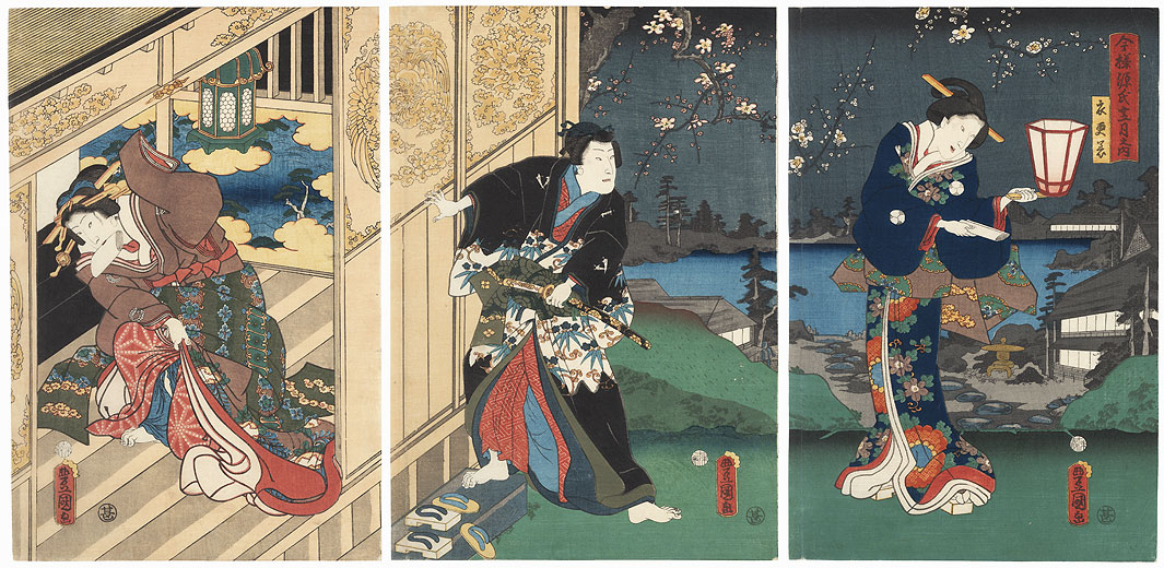 The Second Month (Kisaragi), 1859 by Toyokuni III/Kunisada (1786 - 1864)