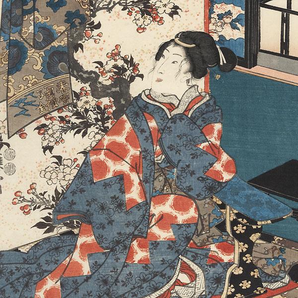 Flowers, 1847 - 1852 by Toyokuni III/Kunisada (1786 - 1864)