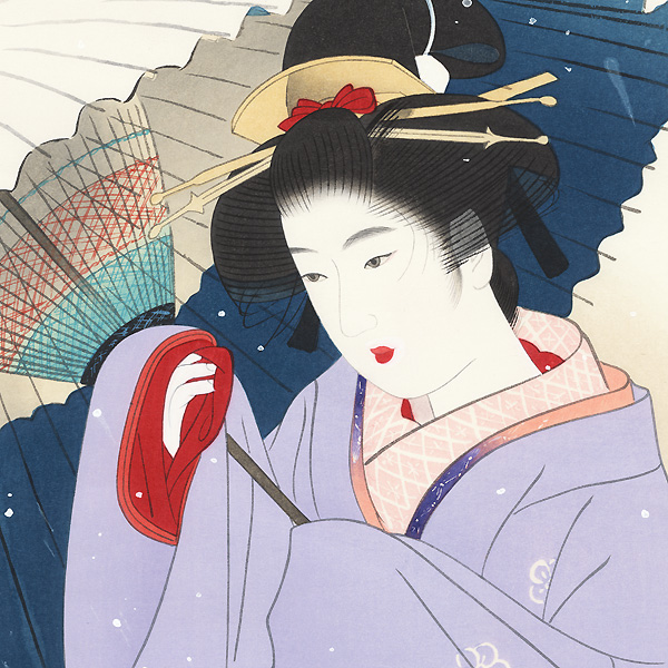Snowstorm by Ito Shinsui (1898 - 1972)