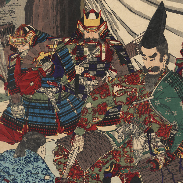 Kusunoki Masashige Saying Farewell to His Son, 1881 by Toyonobu (1859 - 1886)