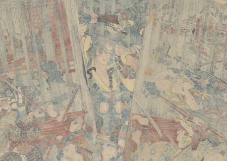 Revenge of the Soga Brothers, 1851 - 1852 by Kuniyoshi (1797 - 1861)