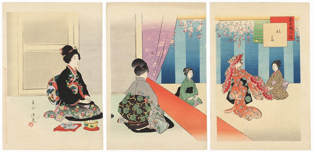 Watching a Dance Performance, 1904 by Miyagawa Shuntei (1873 - 1914)