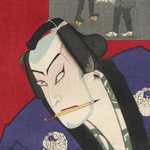 Onoe Kikugoro V as Gosho no Gorozo by Kunichika (1835 - 1900)
