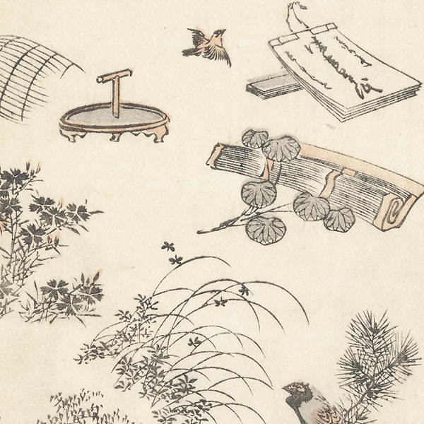 Plants and Objects by Hokusai (1760 - 1849)