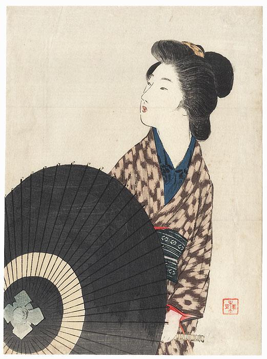 A Voice Kuchi-e Print, 1910 by Takeuchi Keishu (1861 - 1942)