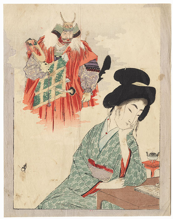 Original Meiji Era Kuchi-e Print by Meiji era artist (not read)
