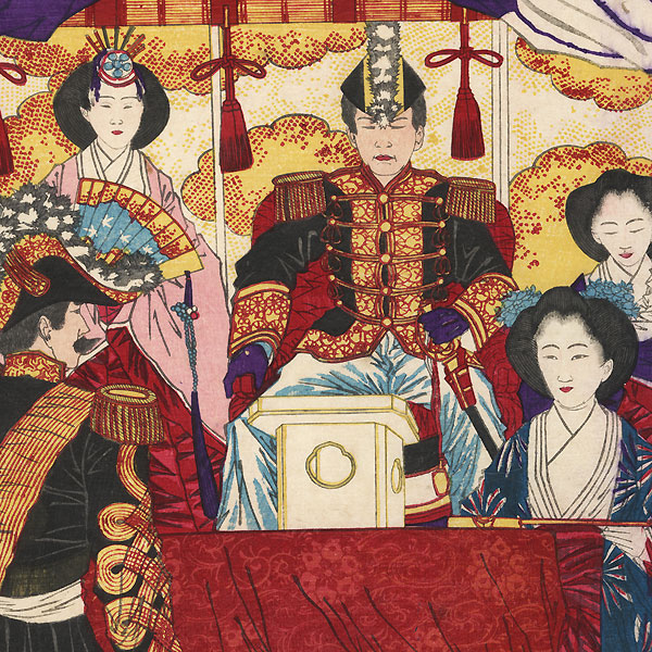 A Chronicle of Tranquility after the Subjugation of the West, 1878 by Yoshitoshi (1839 - 1892)