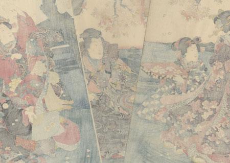 Clearing Weather at Awazu, 1847 - 1852 by Kunisada II (1823 - 1880)