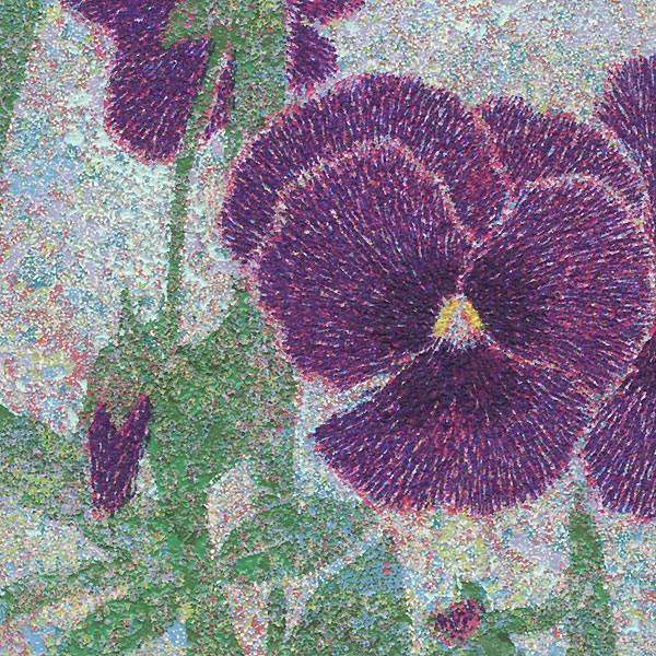 No. 291 (Pansies), 1998 by Yukio Katsuda (born 1941)