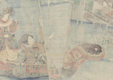 Boating in the Chinese Style, 1847 - 1852 by Kuniyoshi (1797 - 1861)